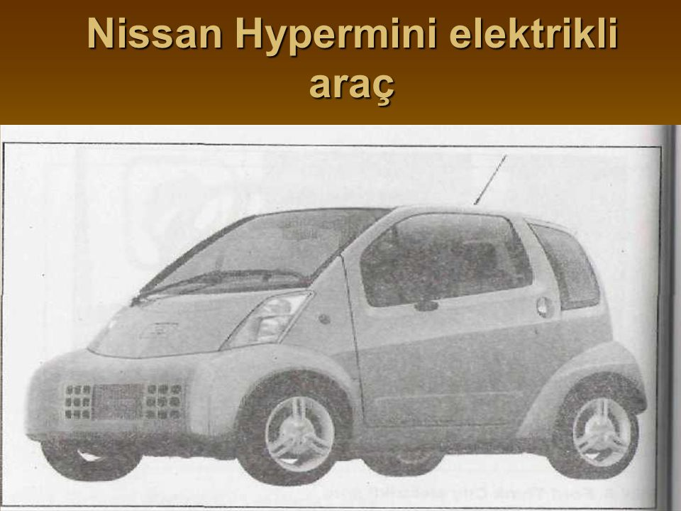 Nissan Hypermini elektrikli araç