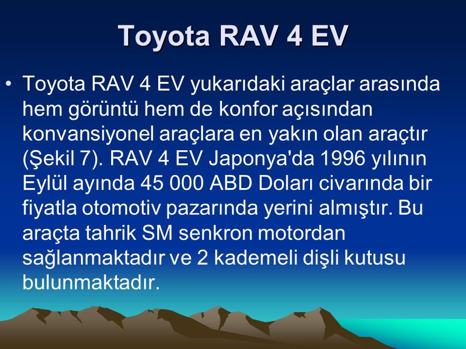 Toyota RAV 4 EV Toyota RAV 4 EV yukarıdaki araçlar arasında hem görüntü hem de konfor açısından konvansiyonel araçlara en yakın olan araçtır (Şekil 7)