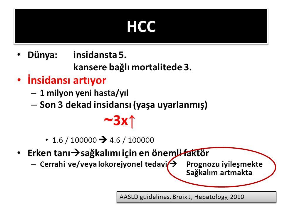 HCC Dünya: insidansta 5.kansere bağlı mortalitede 3.