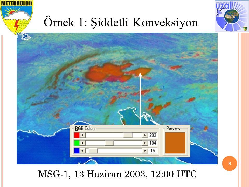 8 Örnek 1: Şiddetli Konveksiyon MSG-1, 13 Haziran 2003, 12:00 UTC