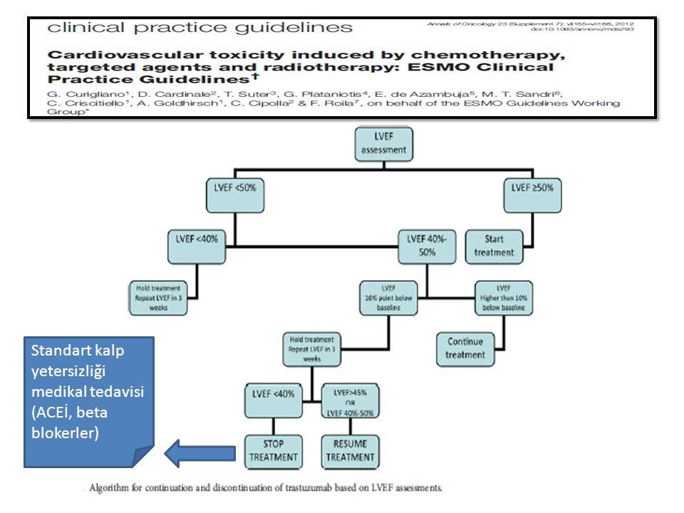 Standart kalp yetersizliği medikal tedavisi (ACEİ, beta blokerler)