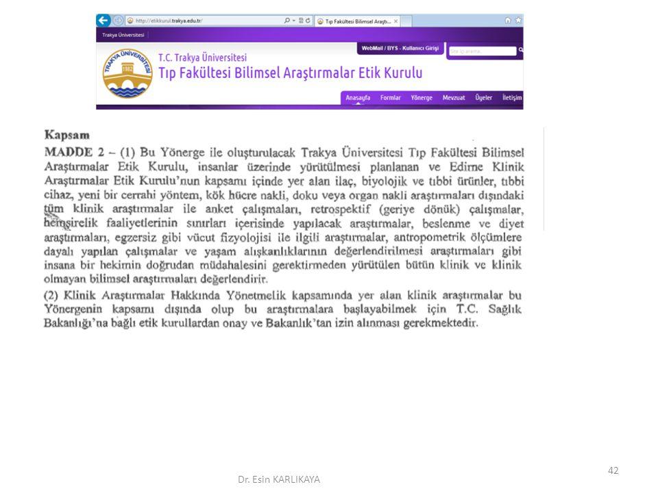 Dr. Esin KARLIKAYA 42