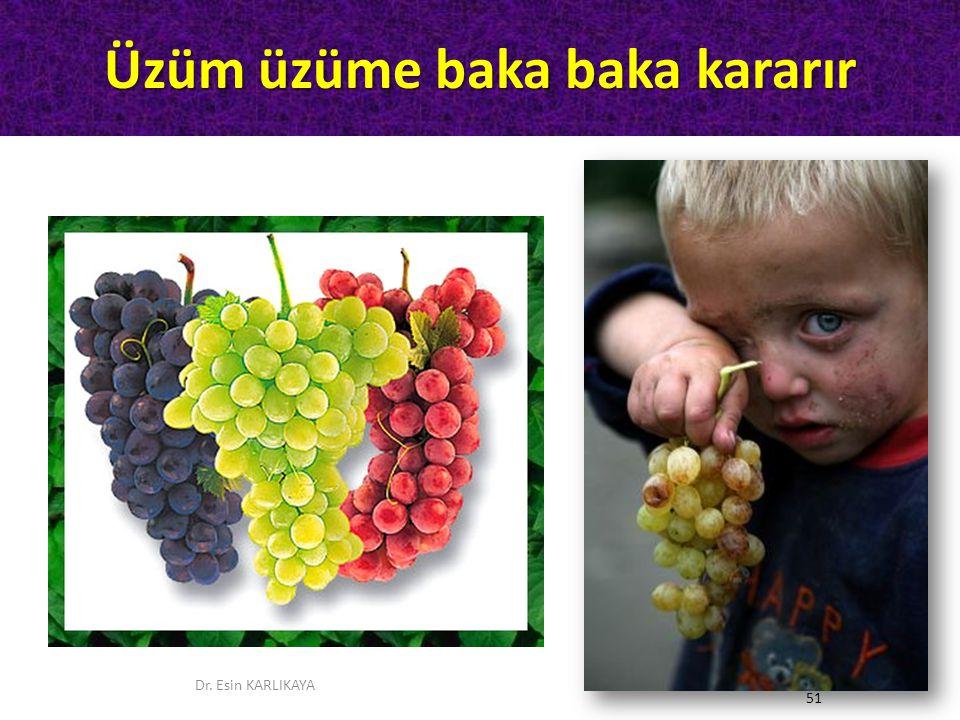 Üzüm üzüme baka baka kararır Dr. Esin KARLIKAYA 51