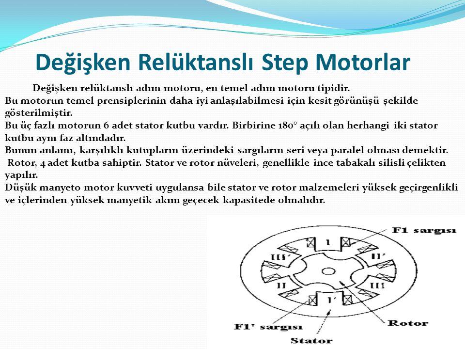 Değişken Relüktanslı Step Motorlar Değişken relüktanslı adım motoru, en temel adım motoru tipidir. Bu motorun temel prensiplerinin daha iyi anlaşılabi
