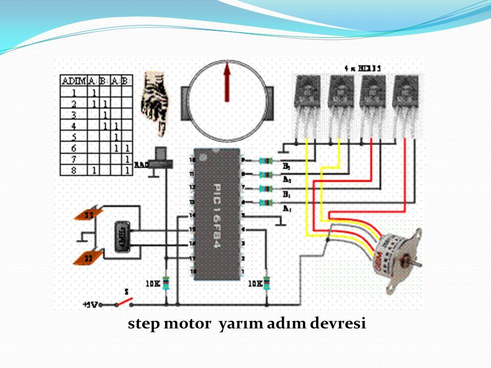step motor yarım adım devresi