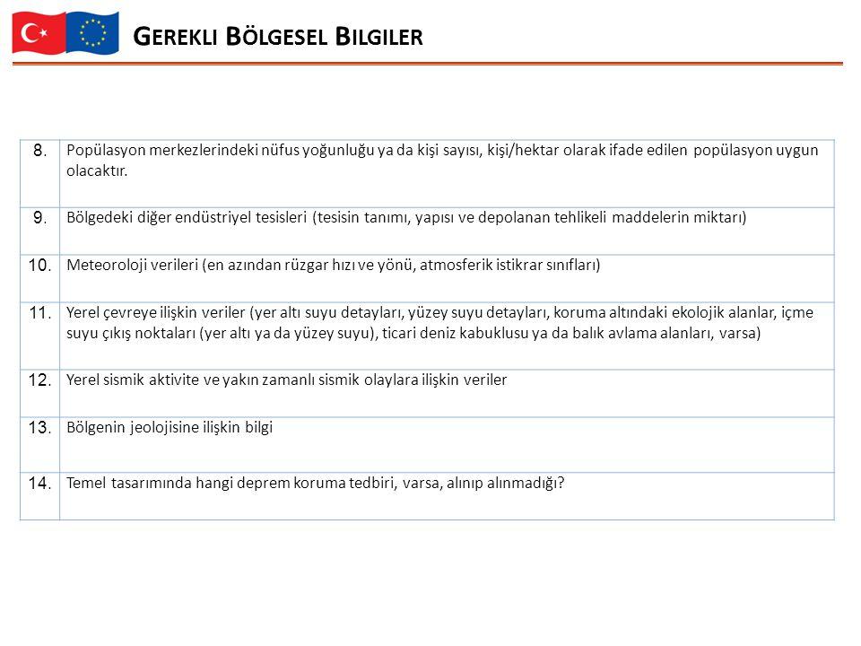 G EREKLI B ÖLGESEL B ILGILER 8.