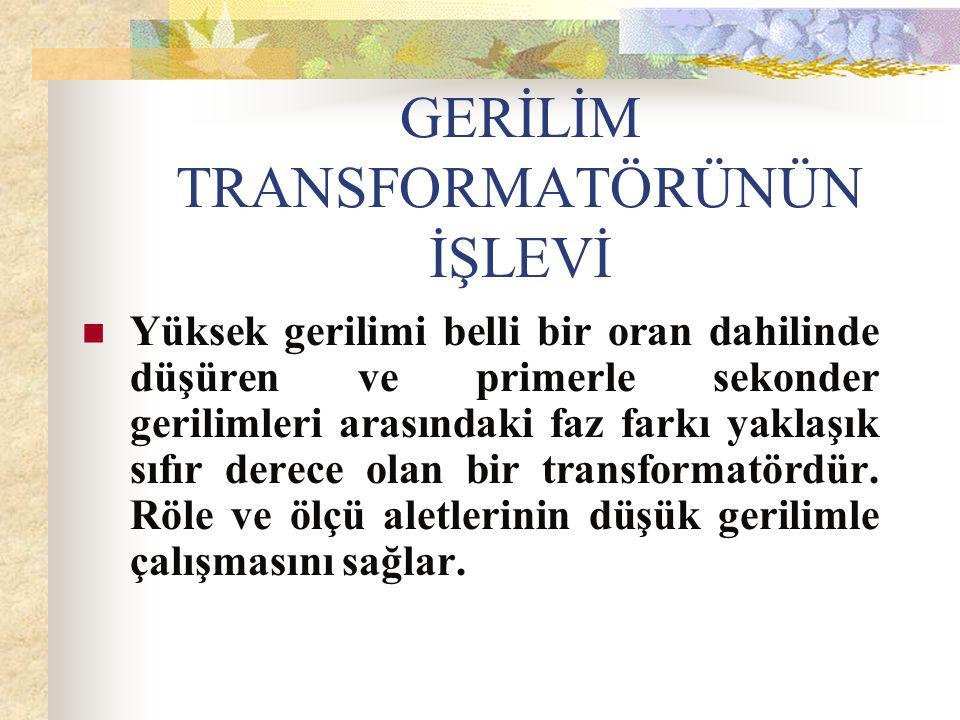GERİLİM TRANSFORMATÖRLERİ