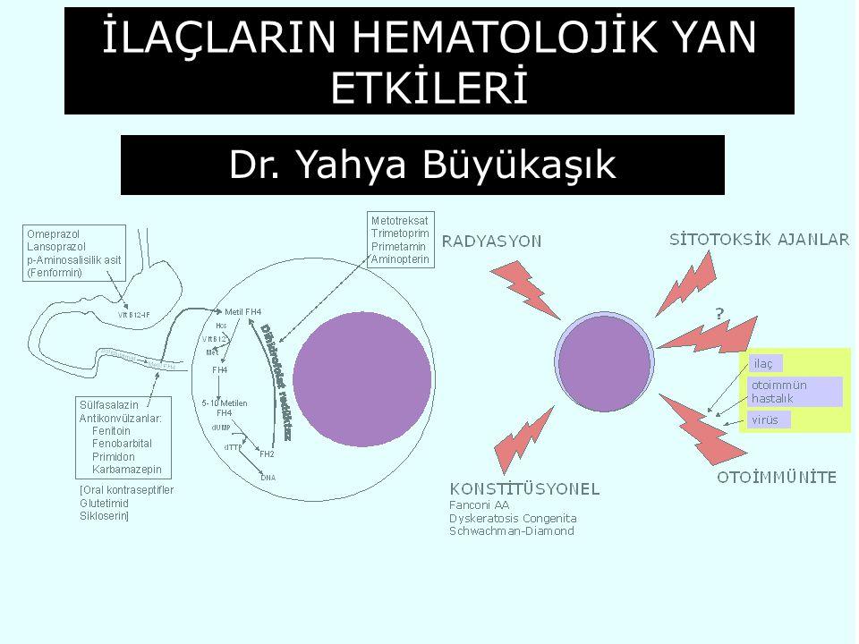 İLAÇLARIN HEMATOLOJİK YAN ETKİLERİ Dr. Yahya Büyükaşık