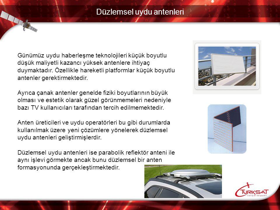 Düzlemsel uydu antenleri Sabit kullanıcılar için geliştirilen alıcı antenlerden bazıları SelfsatAttisat Makegroup Fraunhofer İnstitute