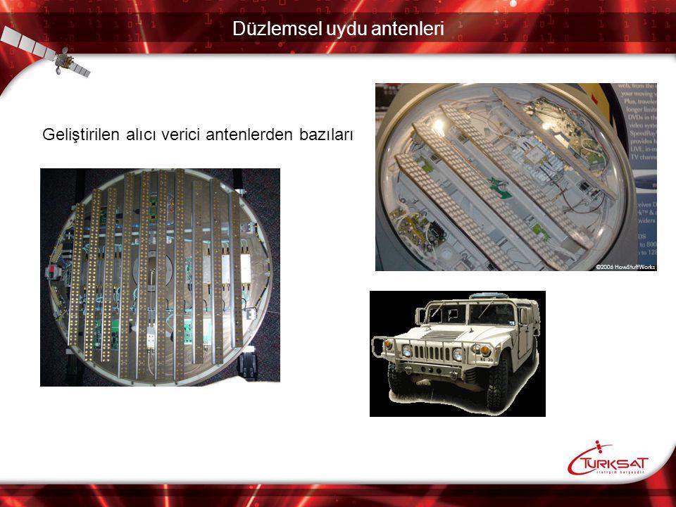 Düzlemsel uydu antenleri Havacılık ve askeri amaçlı olarak da düzlemsel antenler kullanılmaktadır.