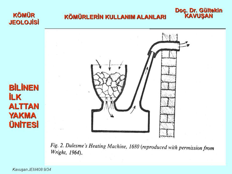 KÖMÜR JEOLOJİSİ Doç. Dr. Gültekin KAVUŞAN KÖMÜRLERİN KULLANIM ALANLARI Kavuşan JEM408 30/34