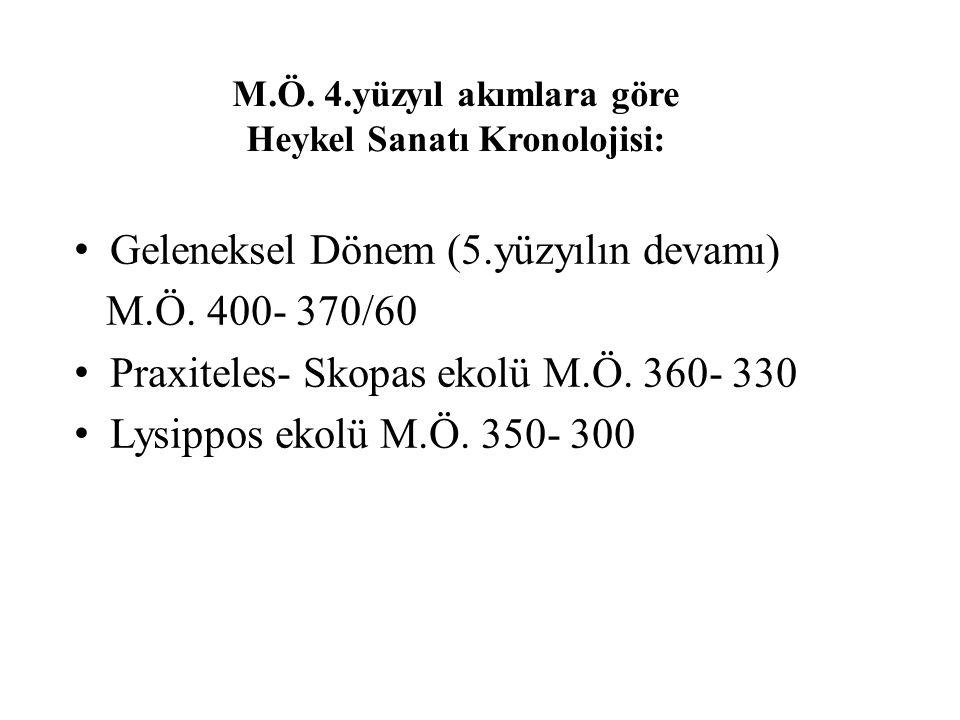 Helenistik Dönem Kronolojisi M.Ö.330- 300 Geç Klasik geçiş süreci M.Ö.300-240/30 Erken Helenistik M.Ö.240-160/50 Yüksek Helenistik M.Ö.160-30 Geç Helenistik