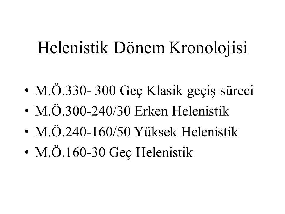 HELENİSTİK DÖNEM GENEL ÖZELLİKLERİ Erken Helenistik: İskender'in ölümüyle başlayan dönemdir.
