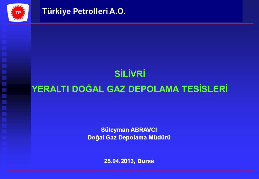 Türkiye Petrolleri A.O. SİLİVRİ YERALTI DOĞAL GAZ DEPOLAMA TESİSLERİ Süleyman ABRAVCI Doğal Gaz Depolama Müdürü 25.04.2013, Bursa Türkiye Petrolleri A