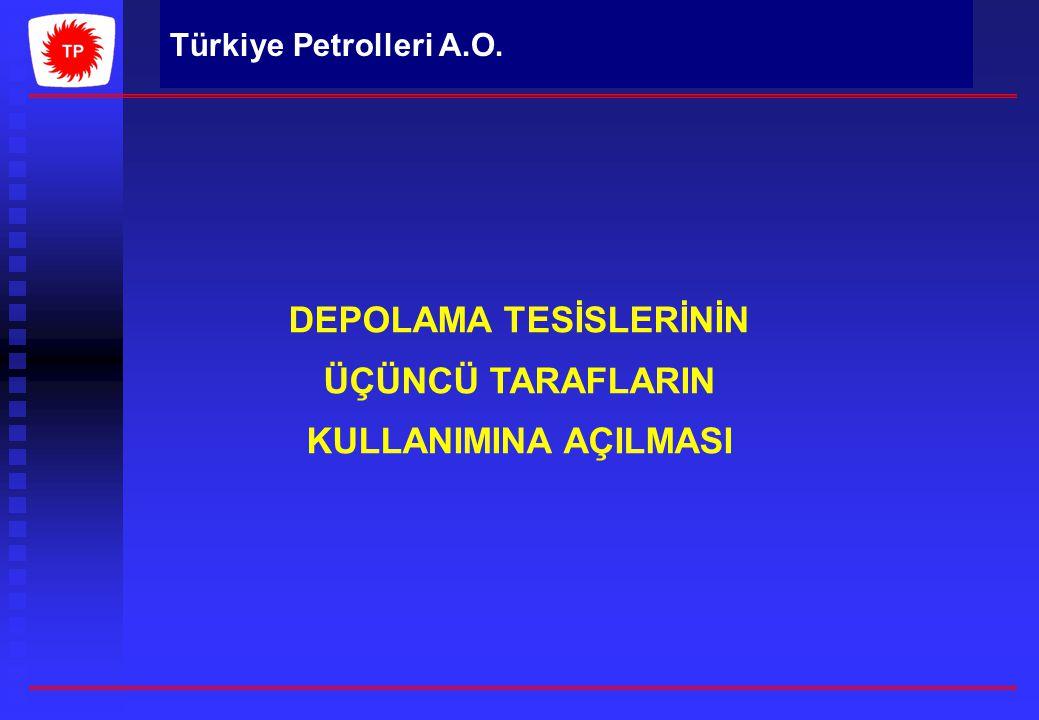 DEPOLAMA TESİSLERİNİN ÜÇÜNCÜ TARAFLARIN KULLANIMINA AÇILMASI Türkiye Petrolleri A.O.