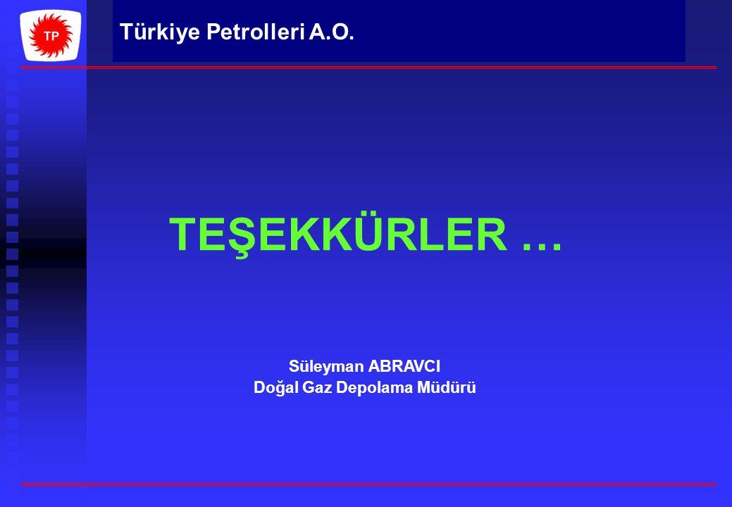 Türkiye Petrolleri A.O. TEŞEKKÜRLER … Süleyman ABRAVCI Doğal Gaz Depolama Müdürü