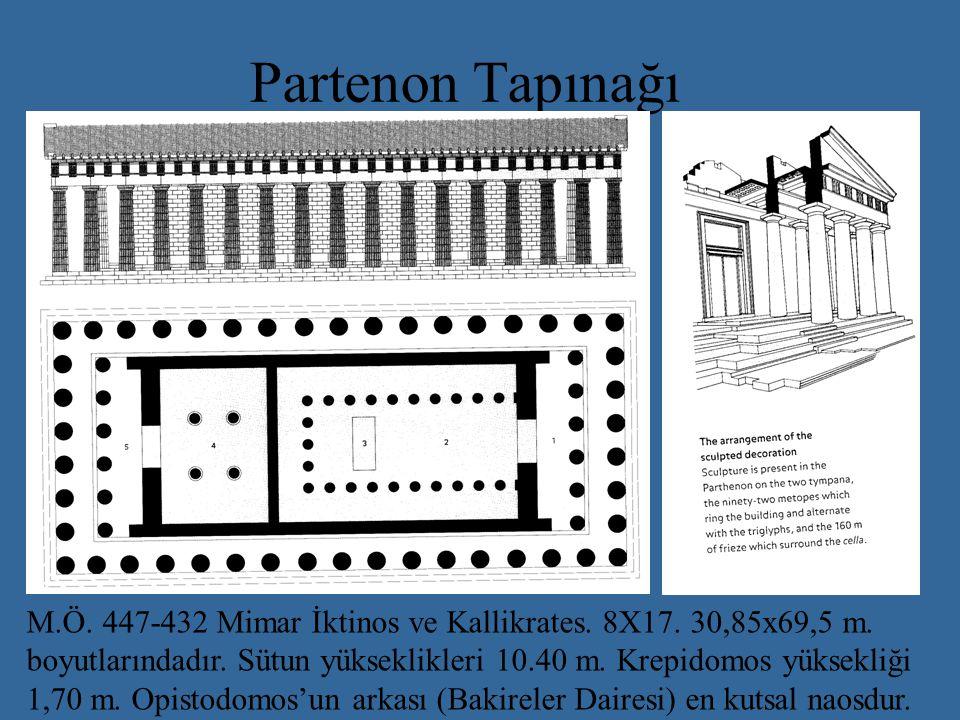 Partenon Tapınağı M.Ö.447-432 Mimar İktinos ve Kallikrates.