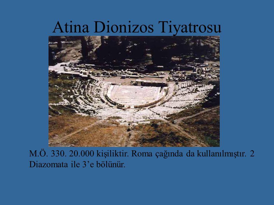Atina Dionizos Tiyatrosu M.Ö.330. 20.000 kişiliktir.