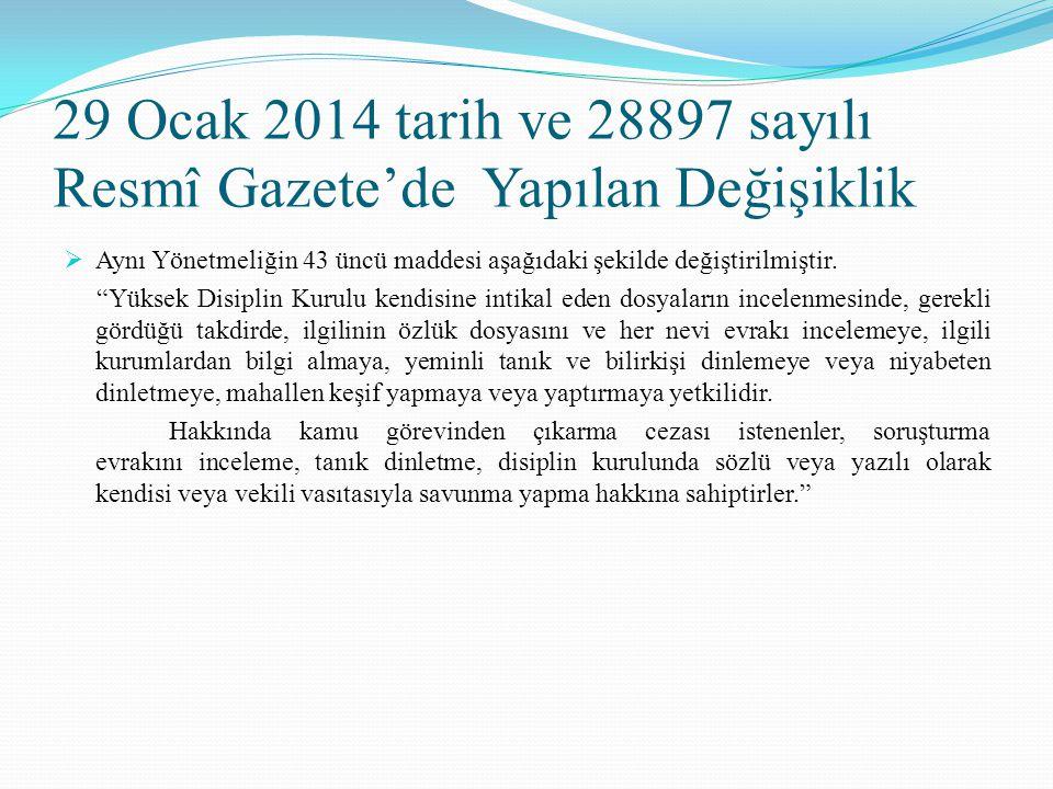 """29 Ocak 2014 tarih ve 28897 sayılı Resmî Gazete'de Yapılan Değişiklik  Aynı Yönetmeliğin 43 üncü maddesi aşağıdaki şekilde değiştirilmiştir. """"Yüksek"""