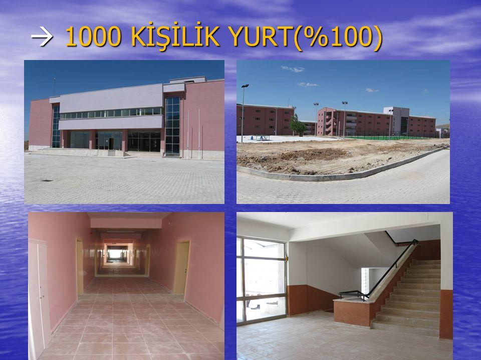  1000 KİŞİLİK YURT(%100)