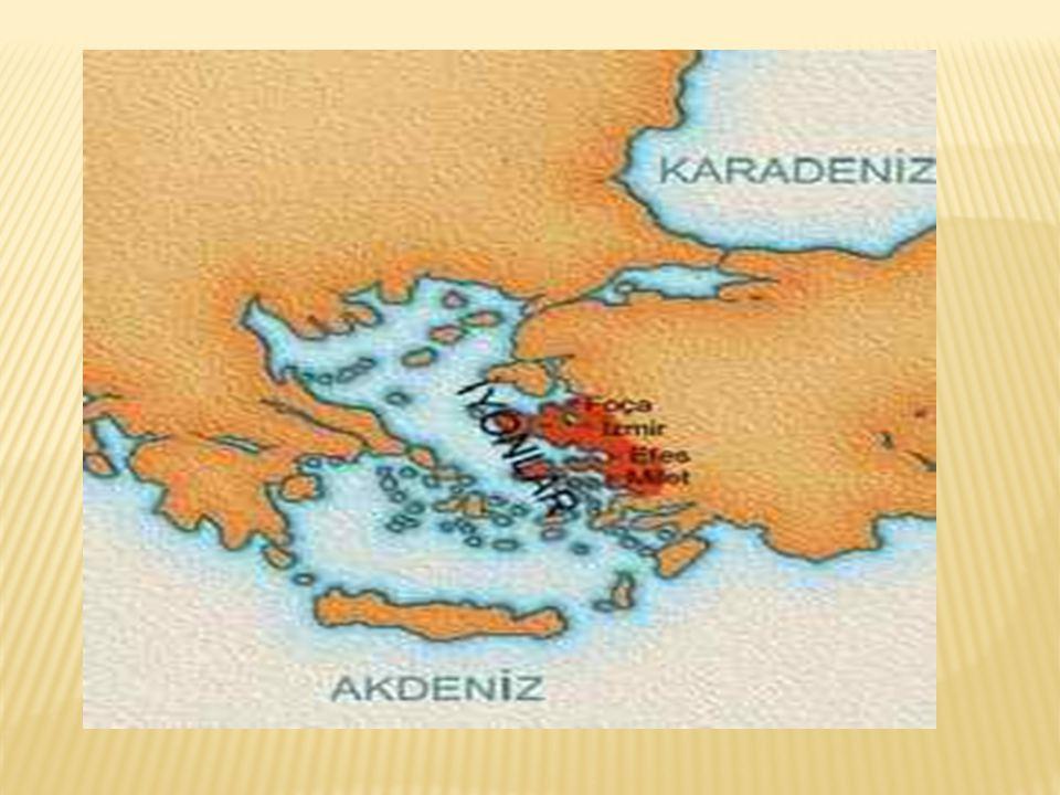  Mimari heykelcilik alanlarında çok gelişmişler  En ünlü kalıntıları Efes Artemis Tapınağı  Ekonomilerinin temeli Ticaret  Kuzey Ege Marmara denizi çevresi Karadeniz'de ticari amaçlı koloniler