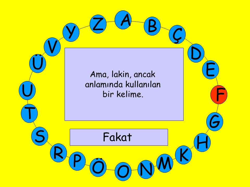 A M Ü V Y Z E D Ç B A U T G F S P Ö O H K N R Yurdumuzun Avrupa topraklarında kalan bölümüne verilen ad.