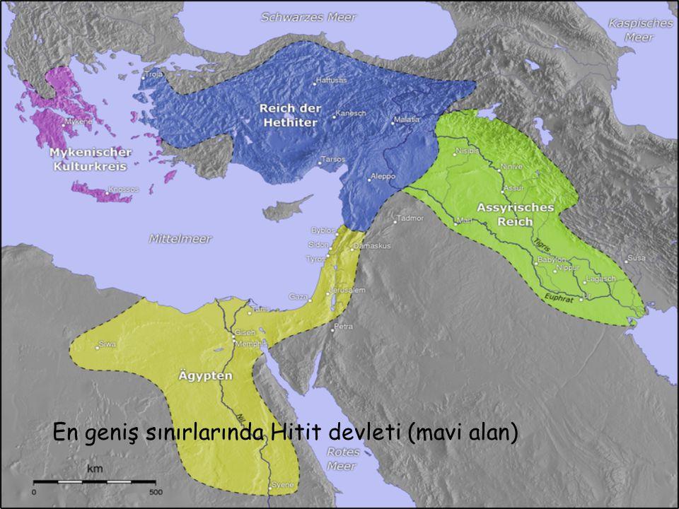 M.Ö 1290 yılında Hitit İmparatorluğu haritası