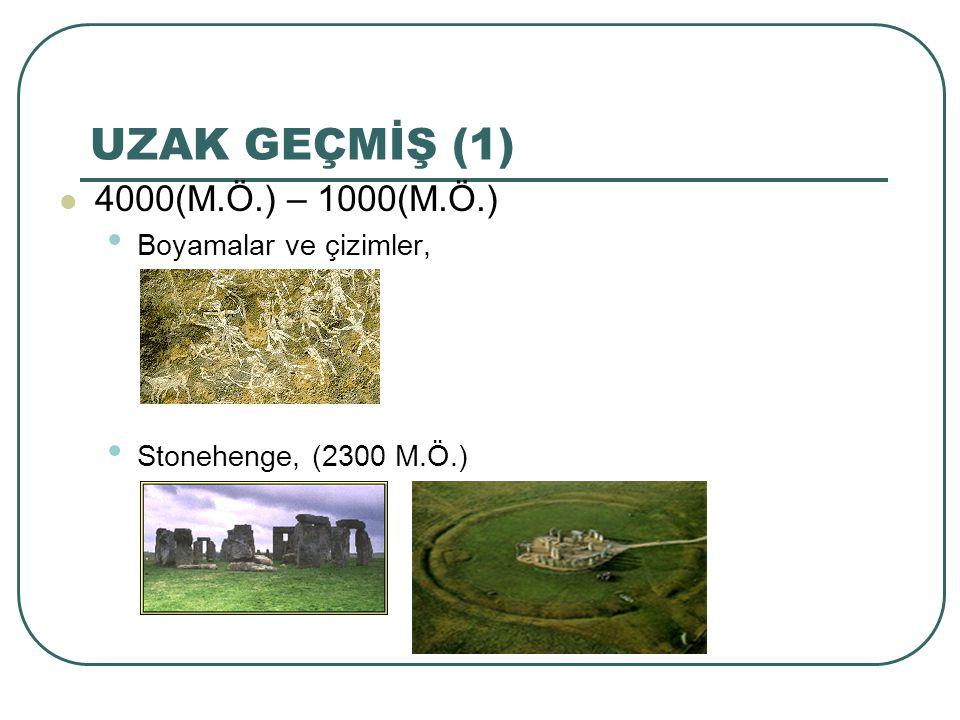 UZAK GEÇMİŞ (1) 4000(M.Ö.) – 1000(M.Ö.) Boyamalar ve çizimler, Stonehenge, (2300 M.Ö.)