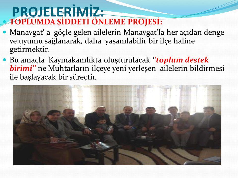 PROJELERİMİZ: TOPLUMDA ŞİDDETİ ÖNLEME PROJESİ: Manavgat' a göçle gelen ailelerin Manavgat'la her açıdan denge ve uyumu sağlanarak, daha yaşanılabilir