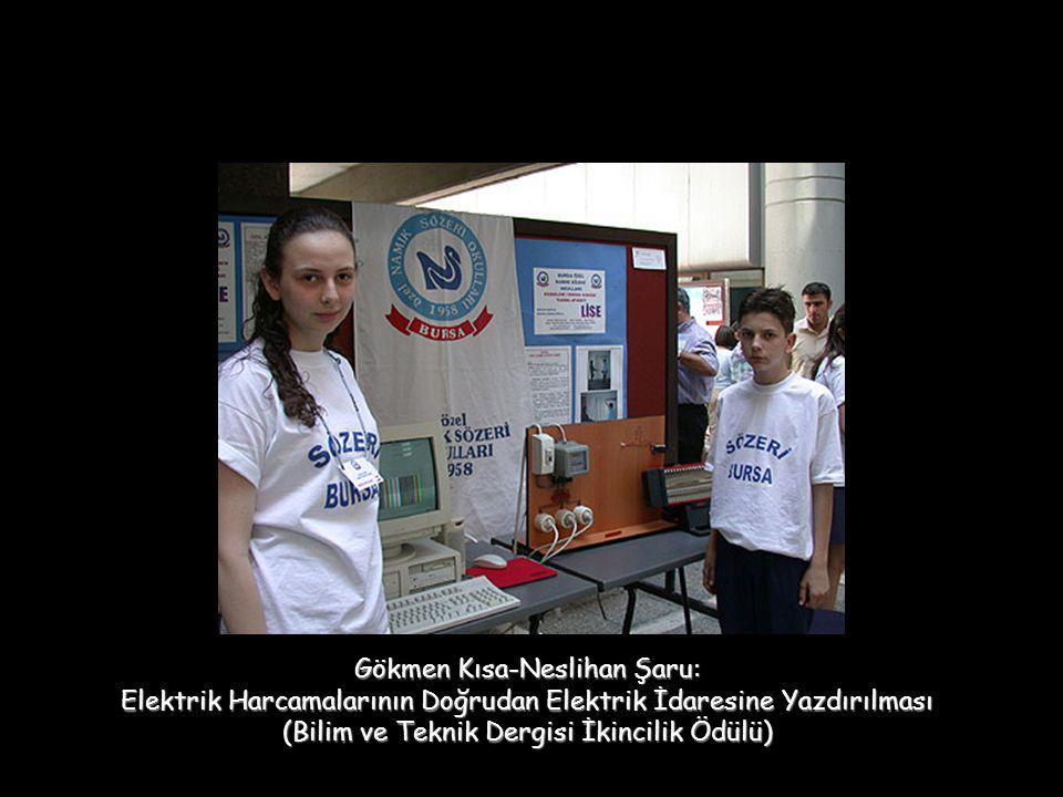 Gökmen Kısa-Neslihan Şaru: Elektrik Harcamalarının Doğrudan Elektrik İdaresine Yazdırılması (Bilim ve Teknik Dergisi İkincilik Ödülü)