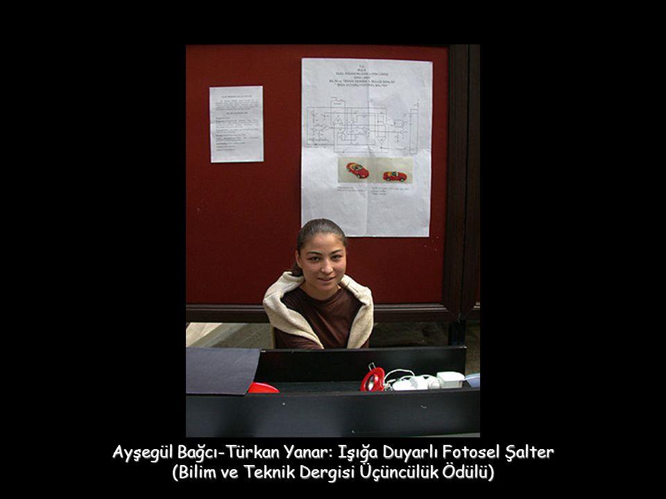 Ayşegül Bağcı-Türkan Yanar: Işığa Duyarlı Fotosel Şalter (Bilim ve Teknik Dergisi Üçüncülük Ödülü)