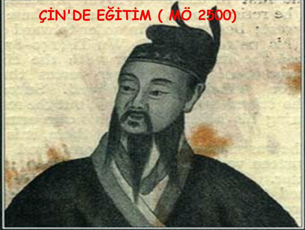 ÇİN'DE EĞİTİM ( MÖ 2500)