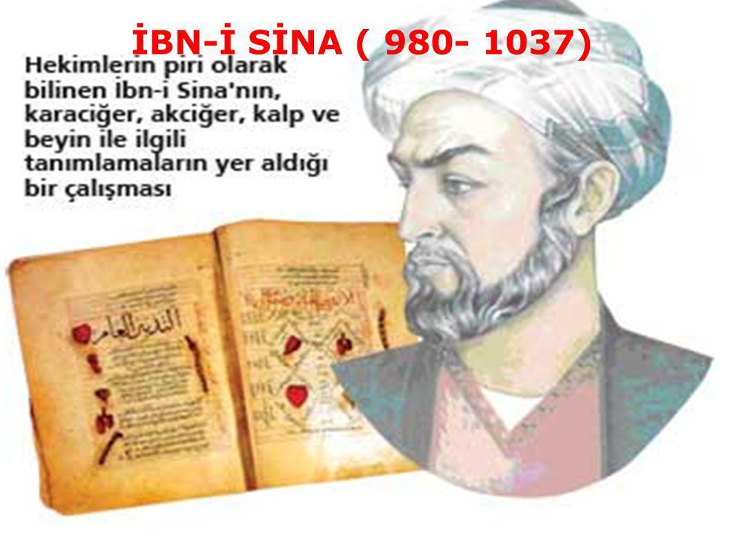 İBN-İ SİNA ( 980- 1037)