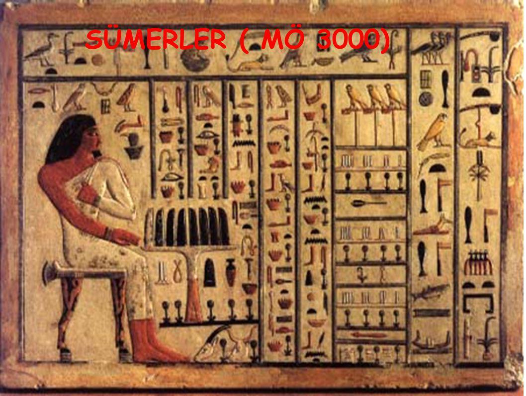 Hiyeroglif yazıyı ( resim yazısı ) bulmuşlardır Devlet idaresinde yazışmalara önem verilmiştir Cam, papirüs ve ilk takvimi ( 365 gün- miladi) onlar bulmuşlardır.