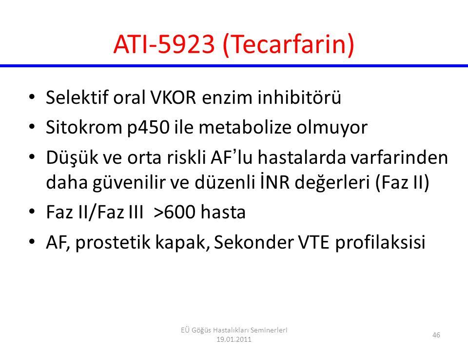 47 EÜ Göğüs Hastalıkları Seminerleri 19.01.2011