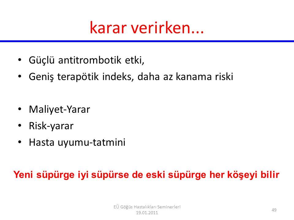 TEŞEKKÜR EDERİM 50 EÜ Göğüs Hastalıkları Seminerleri 19.01.2011