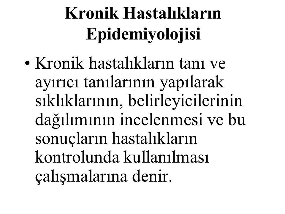 Türkiye'de hastanelere yatan hastaların üçte biri kronik hastalıklar nedeniyle yatmıştır.