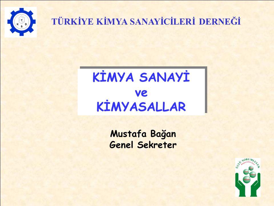 Mustafa Bağan Genel Sekreter TÜRKİYE KİMYA SANAYİCİLERİ DERNEĞİ KİMYA SANAYİ ve KİMYASALLAR KİMYA SANAYİ ve KİMYASALLAR