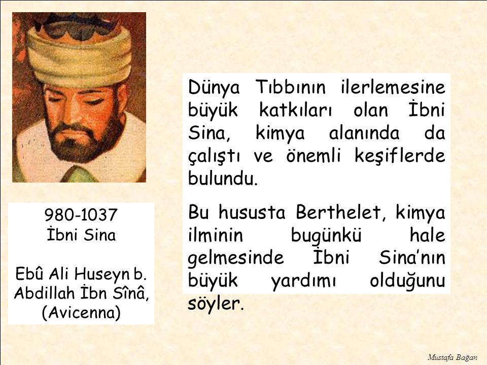 Dünya Tıbbının ilerlemesine büyük katkıları olan İbni Sina, kimya alanında da çalıştı ve önemli keşiflerde bulundu.