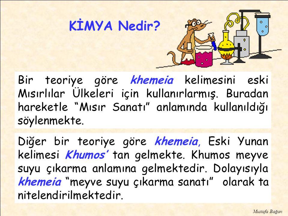 Diğer bir teoriye göre khemeia, Eski Yunan kelimesi Khumos' tan gelmekte.