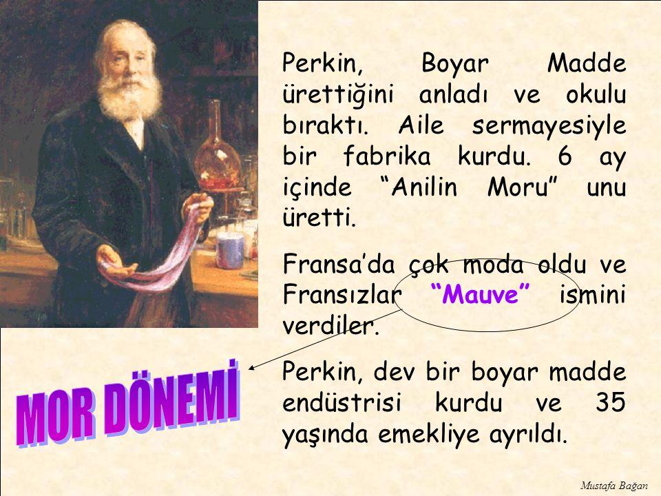 Perkin, Boyar Madde ürettiğini anladı ve okulu bıraktı.