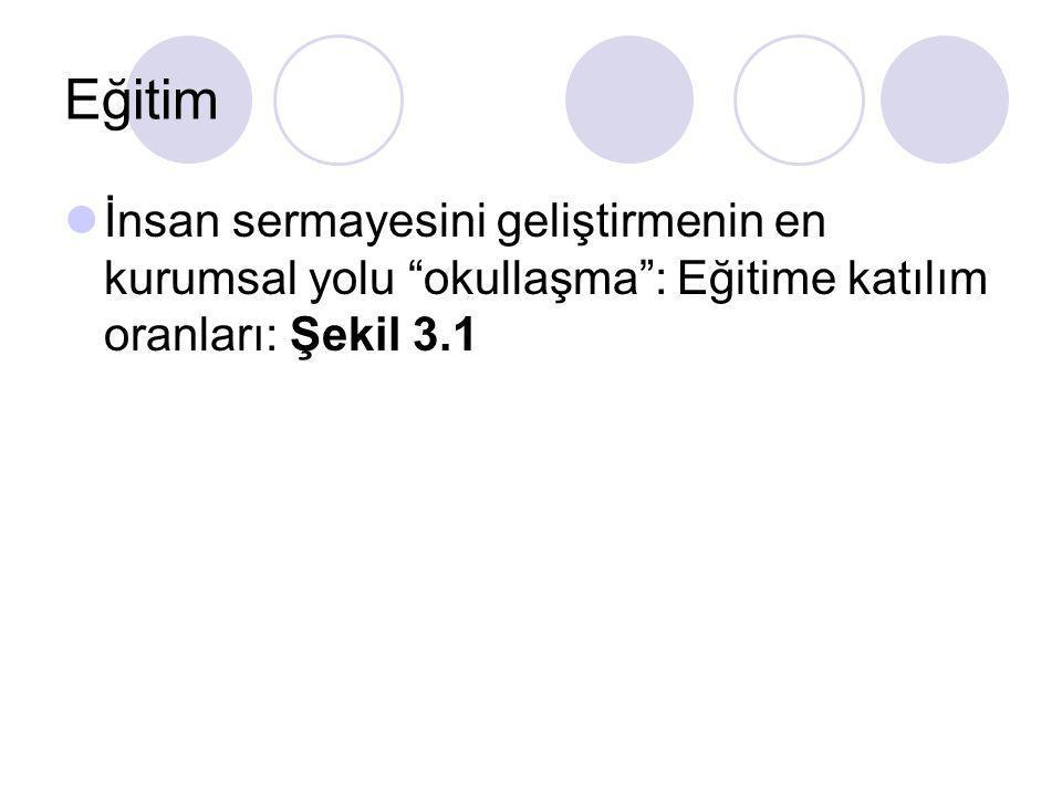 Türkiye de İnsan Sermayesi TR de 1998-2002 k.b.Sağlık harcaması: $150-$200 arasında.