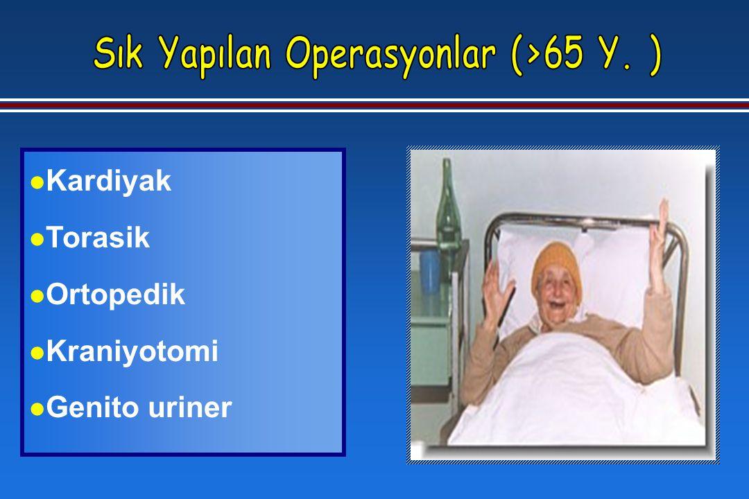 l Kardiyak l Torasik l Ortopedik l Kraniyotomi l Genito uriner
