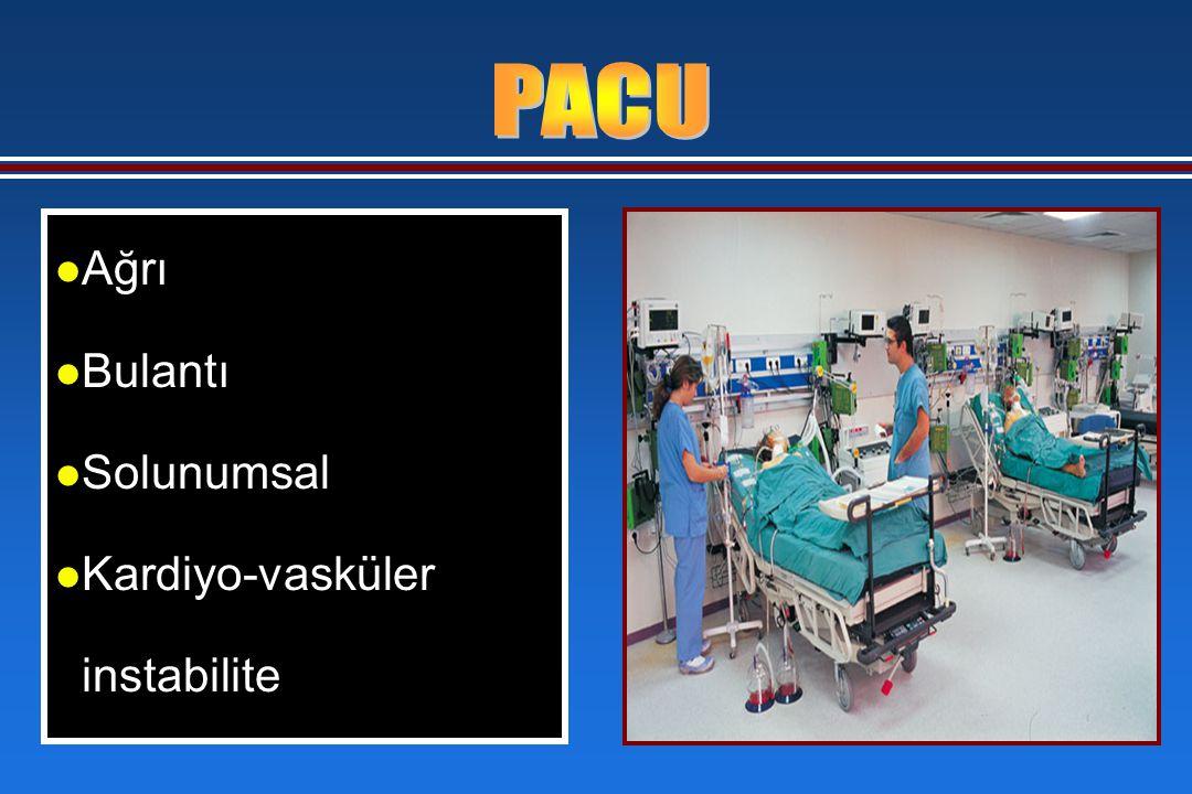 l Ağrı l Bulantı l Solunumsal l Kardiyo-vasküler instabilite