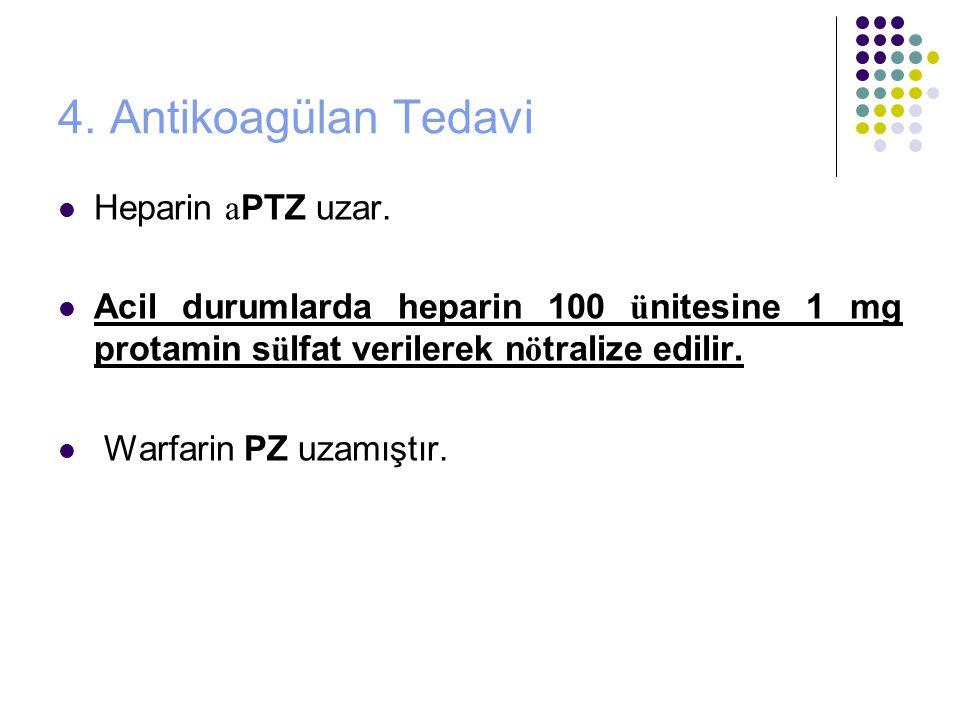 4.Antikoagülan Tedavi Heparin a PTZ uzar.