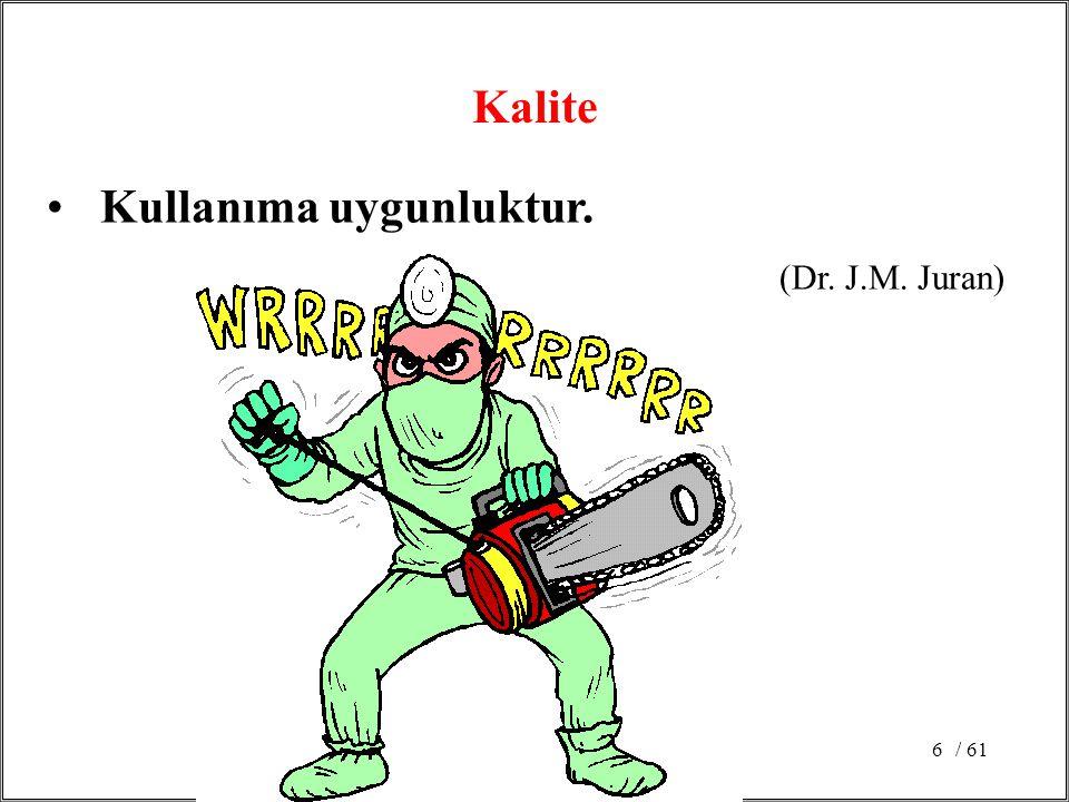 / 616 Kullanıma uygunluktur. (Dr. J.M. Juran) Kalite