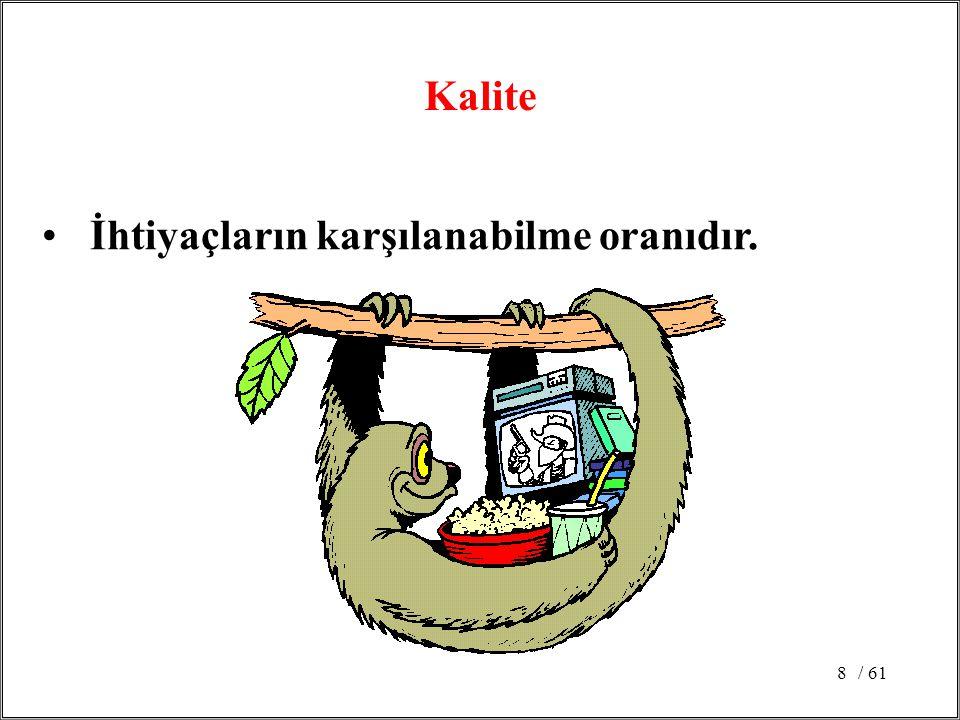 / 6119 Donabedian'a göre Kaliteyi belirleyen 7 faktör: Etkinlik (efficient; randımanlı) Etkililik (effective) Verimlilik Optimallik Kabul edilebilirlik Meşruluk Eşitlik (adil) Güvenli, Hasta merkezli ve Zamanında hizmet +