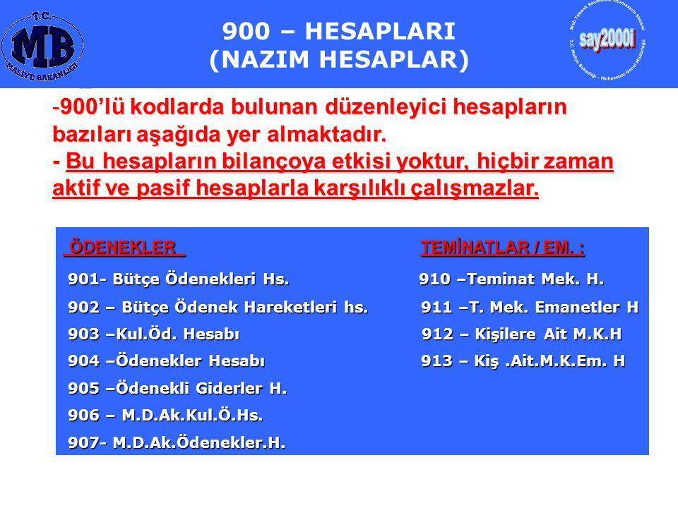 ÖDENEKLER TEMİNATLAR / EM.: ÖDENEKLER TEMİNATLAR / EM.