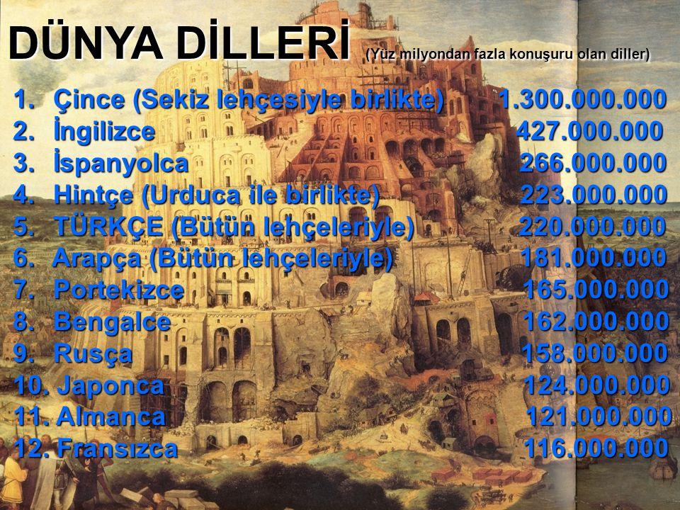 3 M.Ö. 3. yüzyılda Hun İmparatorluğu'nda kullanılan dil Türkçe idi.