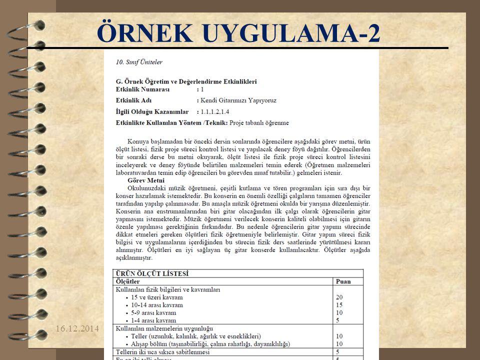 16.12.2014Yrd.Doç.Dr. Fikret KORUR ÖRNEK UYGULAMA-2
